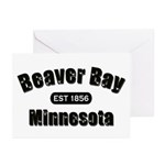 Beaver Bay Established 1856 Greeting Cards (Pk of