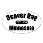 Beaver Bay Established 1856 Oval Sticker (10 pk)