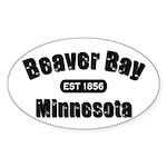 Beaver Bay Established 1856 Oval Sticker (50 pk)