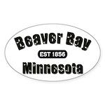 Beaver Bay Established 1856 Oval Sticker