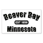 Beaver Bay Established 1856 Rectangle Sticker