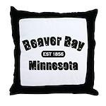 Beaver Bay Established 1856 Throw Pillow