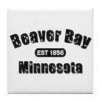 Beaver Bay Established 1856 Tile Coaster