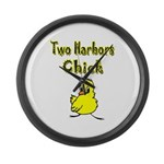 Two Harbors Chick Large Wall Clock