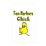 Two Harbors Chick Rectangle Sticker 10 pk)