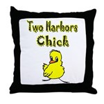 Two Harbors Chick Throw Pillow