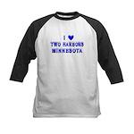 I Love Two Harbors Winter Kids Baseball Jersey