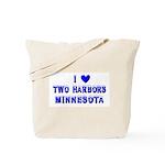 I Love Two Harbors Winter Tote Bag