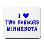 I Love Two Harbors Winter Mousepad
