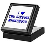 I Love Two Harbors Winter Keepsake Box