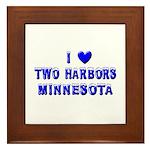 I Love Two Harbors Winter Framed Tile