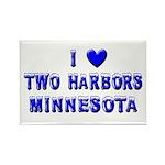 I Love Two Harbors Winter Rectangle Magnet