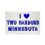 I Love Two Harbors Winter Rectangle Magnet (10 pac