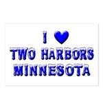 I Love Two Harbors Winter Postcards (Package of 8)