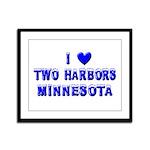 I Love Two Harbors Winter Framed Panel Print