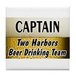 Two Harbors Beer Drinking Team Tile Coaster