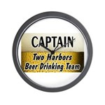 Two Harbors Beer Drinking Team Wall Clock
