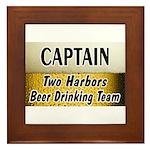Two Harbors Beer Drinking Team Framed Tile