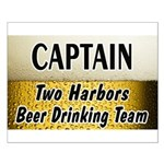 Two Harbors Beer Drinking Team Small Poster