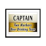 Two Harbors Beer Drinking Team Framed Panel Print