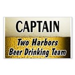 Two Harbors Beer Drinking Team Rectangle Sticker