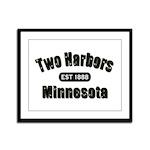 Two Harbors Established 1888 Framed Panel Print