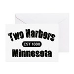 Two Harbors Established 1888 Greeting Cards (Pk of