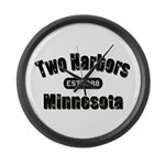 Two Harbors Established 1888 Large Wall Clock
