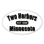 Two Harbors Established 1888 Oval Sticker
