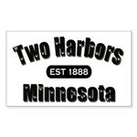 Two Harbors Established 1888 Rectangle Sticker 50