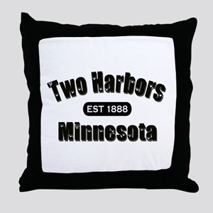 Two Harbors Established 1888 Throw Pillow