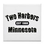 Two Harbors Established 1888 Tile Coaster
