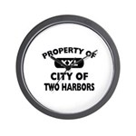 Property of City of Two Harbors Wall Clock