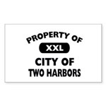 Property of City of Two Harbors Rectangle Sticker