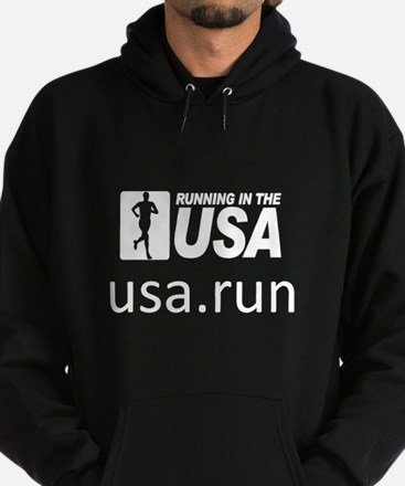 Running in the USA Hoodie (dark)