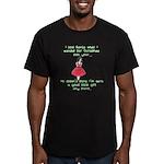 I Told Santa Men's Fitted T-Shirt (dark)