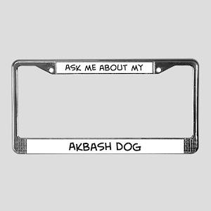 Ask me: Akbash Dog  License Plate Frame