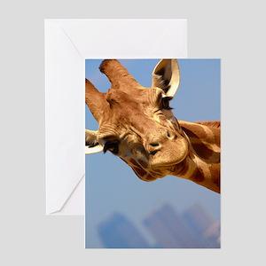 Curious Giraffe Greeting Card