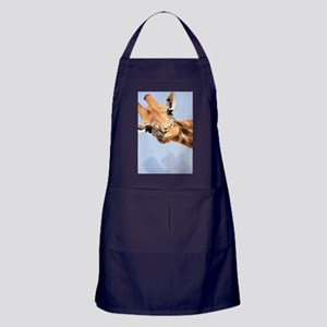 Cute and Curious Giraffe Apron (dark)
