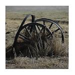 Wagon Wheel Morning Tile Coaster