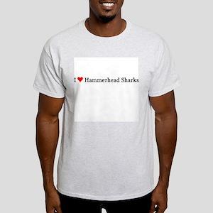 I Love Hammerhead Sharks Ash Grey T-Shirt