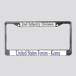 2ND INF DIV License Plate Frame