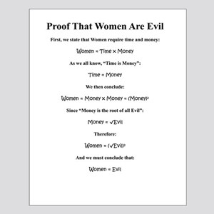 Proof: Women Are Evil Small Poster