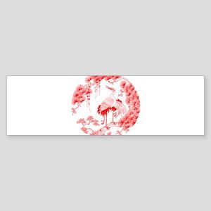 Traditional Chinese Crane Bumper Sticker