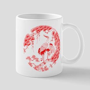 Traditional Chinese Crane Mug