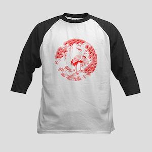 Traditional Chinese Crane Kids Baseball Jersey