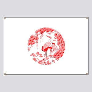 Traditional Chinese Crane Banner