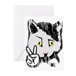 Peaceful Cat Greeting Cards (Pk of 20)