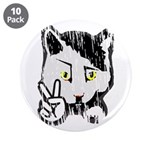 "Peaceful Cat 3.5"" Button (10 pack)"