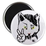 "Peaceful Cat 2.25"" Magnet (10 pack)"